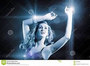 Beautiful Girl Dancing In Club Disco Royalty Free Stock ...
