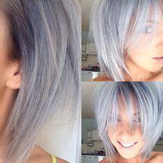 peinados  pinterest grey hair frankie sandford  gray