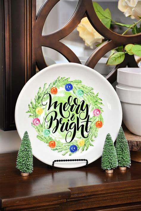 christmas diy decorative plate christmas decorating