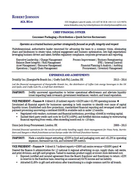 resume and coaching melbourne cmo resume chief marketing officer resume sles the top 4 executive resume exles written by