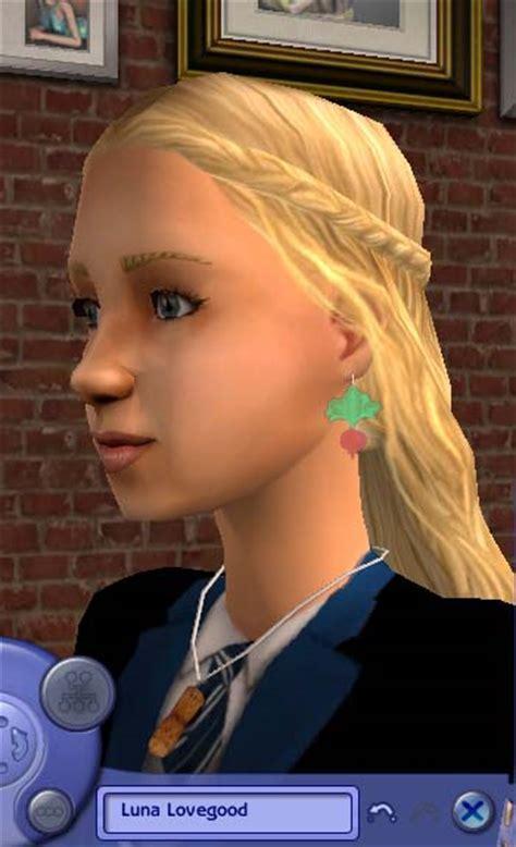 Mod The Sims   UPDATED!   Luna Lovegood's radish earrings