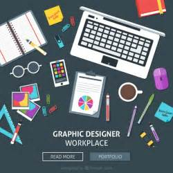 web designer graphic designer workplace web vector free