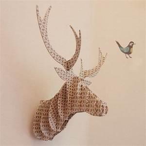 Trophée Animaux Carton : troph e cerf deer pinterest ~ Melissatoandfro.com Idées de Décoration