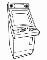 Coloring Pages Arcade Games Printable Colouring Printables Line Drawings Designlooter Retro Cube sketch template