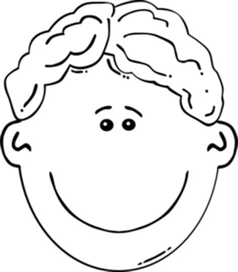 hair clipart black and white boy wavy hair clip at clker vector clip