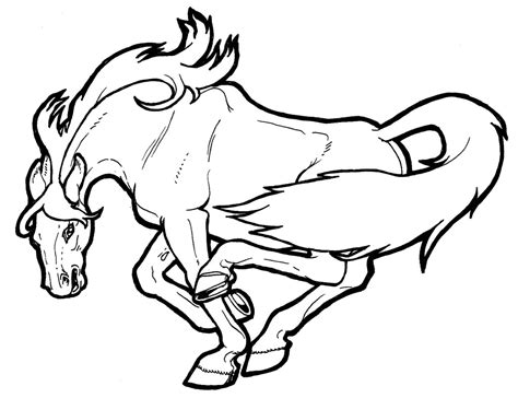 Mustang Wild Horse Coloring Page Free Printable Coloring