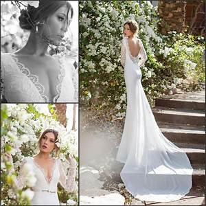 Long Sleeve Chiffon Lace Julie Vino 2015 Mermaid Wedding ...