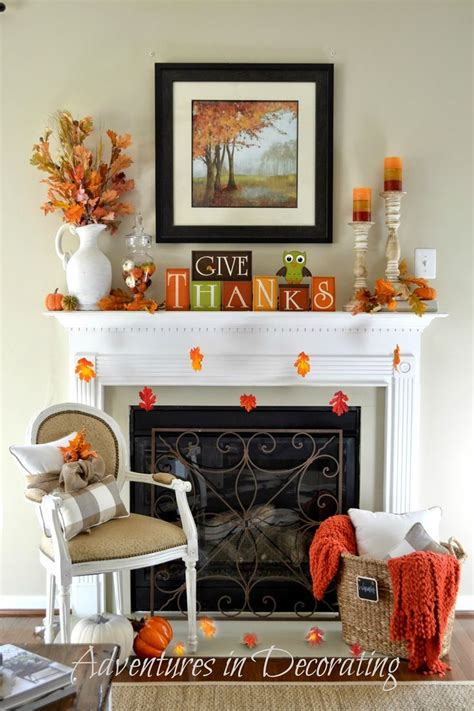 Adventures In Decorating Mantel by Our Simple Fall Mantel Adventures In Decorating