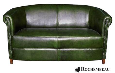 canapé vert canapé brighton canapé en cuir basane rochembeau