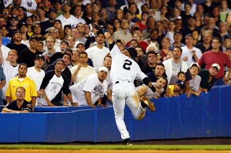 Derek Jeter Stands Catch by Thank You Captain