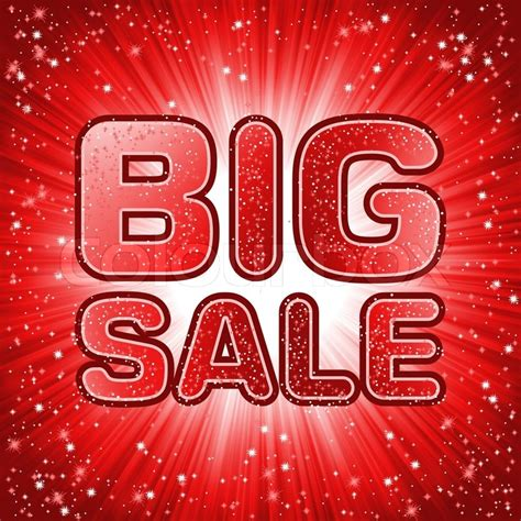 Big sale message EPS 8 | Stock Vector | Colourbox