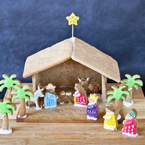 gingerbread nativity and the reason for the season roti n rice