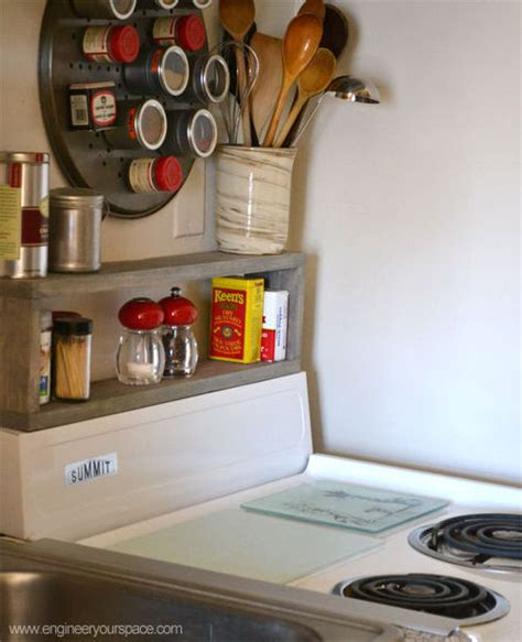 diy small kitchen ideas storage in a small kitchen diy shelf above the