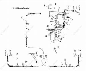 Polaris Side By Side 2004 Oem Parts Diagram For Park Brake