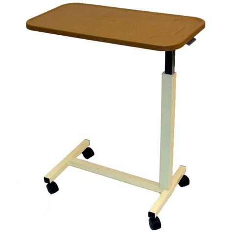 sharper image best over bed table overbed adjustable tilt table adjustable height over bed table with plastic top