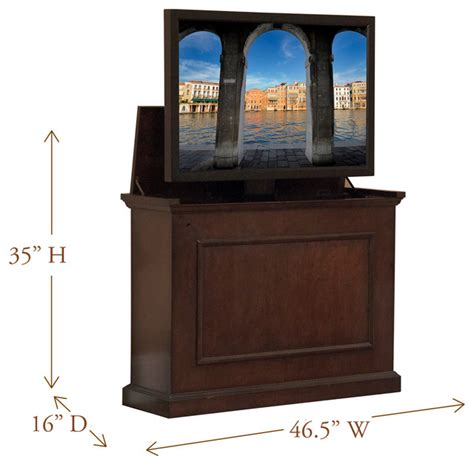 tv lift cabinets for flat screens elevate tv lift cabinets for flat screen tv 39 s up to 42