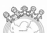 Earth Kanak Mewarna Coloring Buku Children Malvorlagen Kinder Erde Malvorlage App sketch template