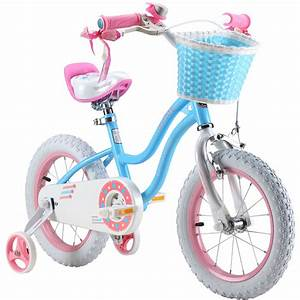 Royalbaby Stargirl Girl U0026 39 S Bike With Training Wheels And Basket  Perfect Gift For Kids  12 Inch