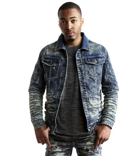 moto biker jacket smoke rise men 39 s slim fit moto biker denim jacket ebay