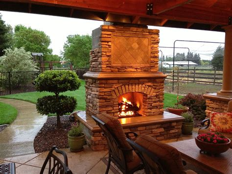 deck fireplaces diy outdoor fireplace project