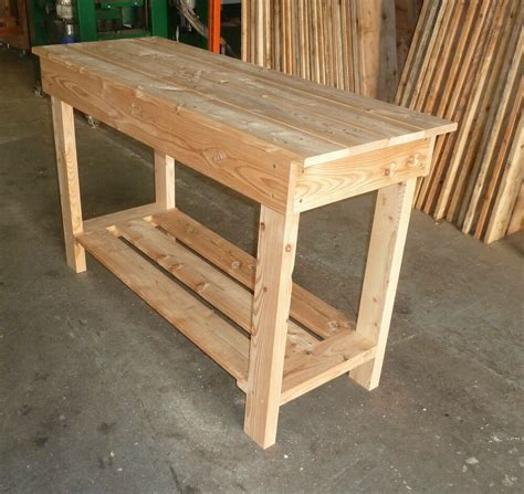 wooden work bench  long great  garage  sturdy ebay