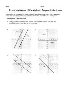 Parallel and Perpendicular Lines Slope Worksheet