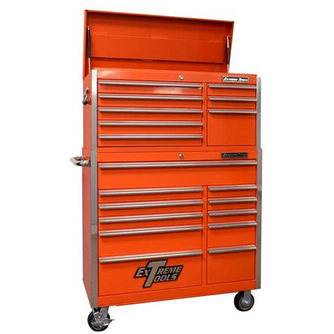 tool chest and cabinet tools ex standard series 41 in 19 drawer top chest and roller cabinet combo orange
