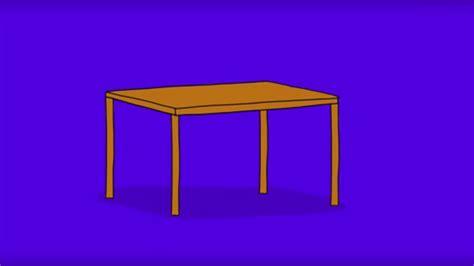 comment dessiner une table
