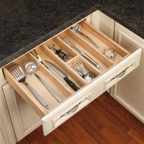 rv kitchen cabinet organizers rev a shelf utility tray 24 quot w wood 4wut 3 cabinetparts 5033