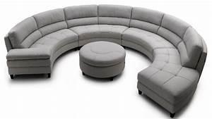 Contemporary sofas half round sectional sofa half circle for Sectional sofas circle furniture