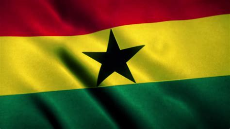 Ghana Flag Blowing in the Wind Motion Background - Videoblocks