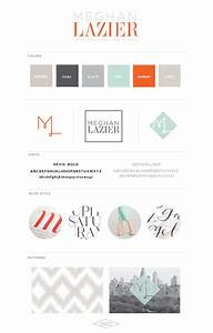 Meg Laz Logo Design Personal Branding Saffron