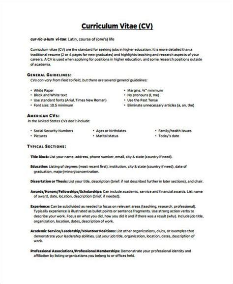 cv template higher education  cv template cv template
