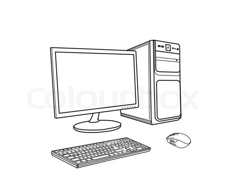 drawing computer stock photo colourbox