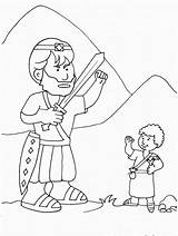 Goliath David Coloring Pages Gemerkt Von Printable sketch template