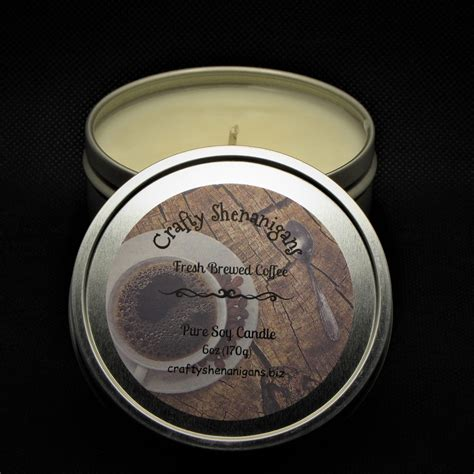 Natural coconut blend notes : Fresh Brewed Coffee Soy Candle - Crafty Shenanigans