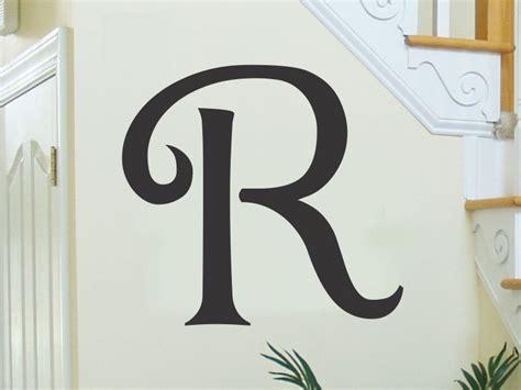 monogram letters  wall single letter vinyl lettering