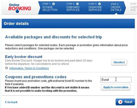 66044 Tallink Ferry Discount Code by 分享 持eurail Pass 網上預訂 Tallink Silja的方式