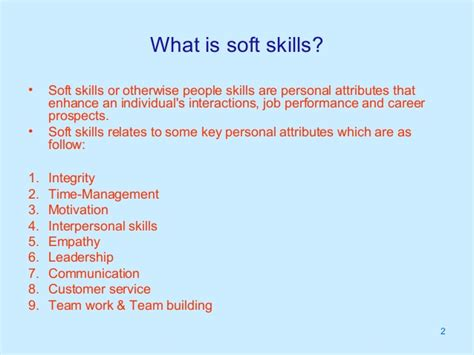 What Are Some Exles Of Skills For A Resume by Soft Skill Need And Market Potential