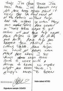 Handwriting analysis t