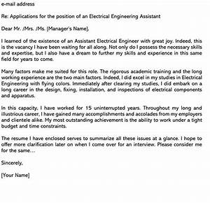 Cover Letter Examples Executive Assistant Electrical Engineer Cover Letter Samples Email Examples