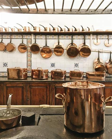 copper pots  shelves  hanging storage copper kitchen cookware design copper pots display