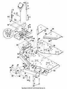 Gravely 40253 60 U0026quot  Deck 4 Wheel Tractor Parts Diagram For