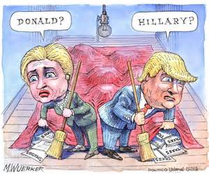 Donald Trump and Hillary Clinton Cartoons