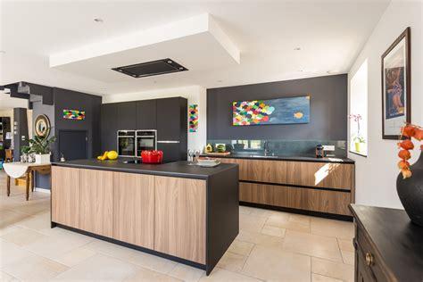 cuisine moderne blanc et bois cuisine noir et blanc et bois