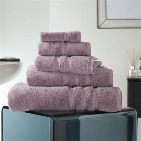 opulence  cotton gsm bathroom towel mauve