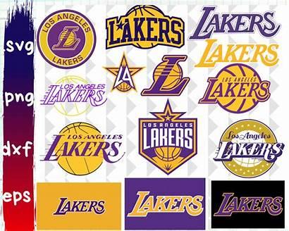 Lakers Clipart Svg Angeles Cricut Zibbet Nba