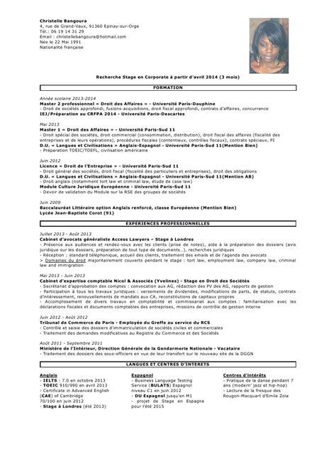 modele cv stage cabinet d avocat cv anonyme