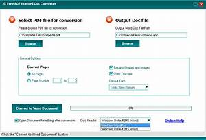 free pdf to word doc converter download With free converter from pdf to word document download