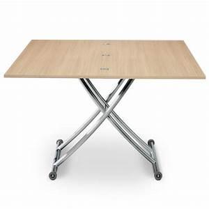 Table Basse Relevable Pas Cher : table basse relevable scandinave ch ne clair pas cher scandinave deco ~ Teatrodelosmanantiales.com Idées de Décoration